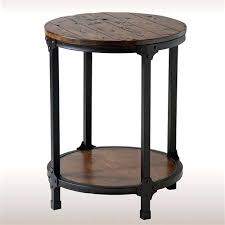 round accent table with drawer rustic accent table aged brown round accent table with drawer