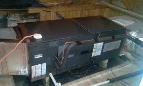 blocked air conditioner drain ii swinsonac s blog american standard forefront air handler installed over sheetmetal auxiliary drain pan