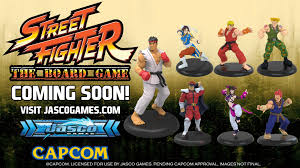 jasco show off street fighter miniatures for new board game