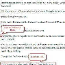 Endnotes References How To Insert Endnotes In Word 2010