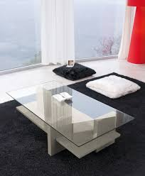 contemporary coffee table wooden glass lacquered wood zen