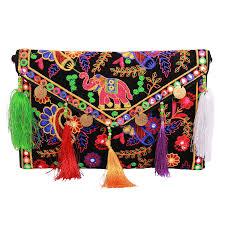 Elephant Designer Bag Lonika Clutch Purse For Women Elephant Handmade Ethnic Vintage Handbags Crossbody Bag
