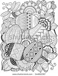 Small Picture Vector coloring book for adult Easter egg Coloring pages
