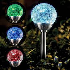 Color Changing Solar Lights Walmart Solar Lights Outdoor Cracked Glass Ball Led Garden Lights Landscape Pathway Lights For Path Patio Yard Color Changing Stainless Steel Solar Path