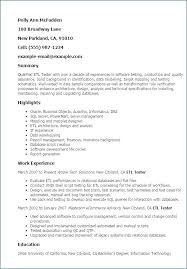 Sample Software Tester Resume Tester Resume Sample One Sample Resume