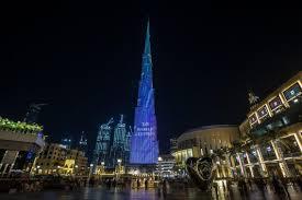 Sky Light Show Burj Khalifa At 10 Crowds Gather To Watch Light Show In