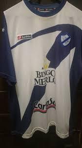 Deportivo Merlo Home Camiseta de Fútbol 2012. Sponsored by Bingo Merlo