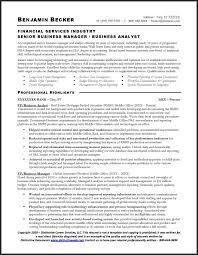 Business Analyst Resume Sample Free Business Analyst Resume Benjamin