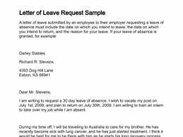 Casual Leave Application Inspiration Download Our Sample Of Sample Leave Letter Of Absence Vacation