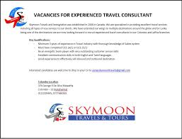 Travel Agent Job Description Interesting EXPERIENCED TRAVEL CONSULTANT SKYMOON TRAVEL TOURS PVTLTD