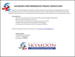 Travel Agent Job Description Enchanting Travel Consultant Job Description Kubreeuforicco