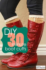 diy boot cuffs love how cute these look super easy to make too
