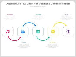 Alternative Flow Chart For Business Communication Powerpoint