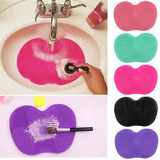 silicone makeup brush cleaner. silicone makeup brush cleaner cleaning cosmetic scrubber board mat pad tool s
