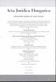 A Vol Közleményei Juridica Acta Mta 2012 Jogtudományi 53 zqw7qfx