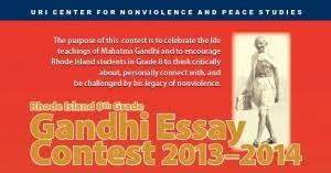 annual ri th grade gandhi essay contest 4th