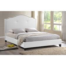 white upholstered headboard queen. Contemporary White Padded Headboard Full Size Bed White King  Upholstered In Queen R