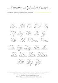 Alphabet Chart Pdf Download Cursive Alphabet Worksheets Odmartlifestyle Com