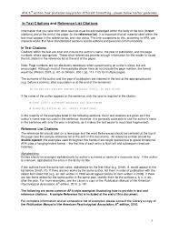 Apa Style 6th Edition Citation Custom Paper Example January 2019