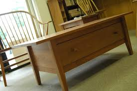 cherry coffee table. Picture Of Cherry Shaker Coffee Table W/Dovetailed Drawer