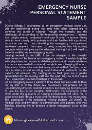 nurse personal statement personal statement for emergency nursing courses