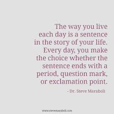 Quotes In A Sentence Amazing Quote By Steve Maraboli €�The Way You Live Each Day Is A Sentence In