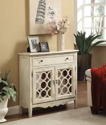 accent cabinets antiqued white finish accent cabinet
