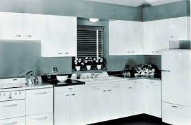 image of painting 1940s kitchen cabinets