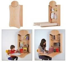... Table Baby Furniture From Bybo: Space Saving Wall Mounted Baby Changing  Pertaining To Wall Mounted Diaper ...