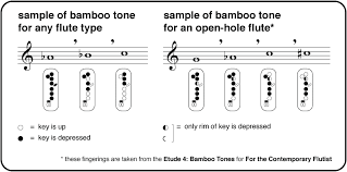 Flute Multiphonics Chart For The Contemporary Flutist Online Bamboo Tones