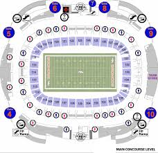 Invesco Field Seating Chart Club Level Stadium Layouts