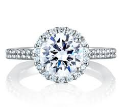 signature round halo engagement ring engagement rings