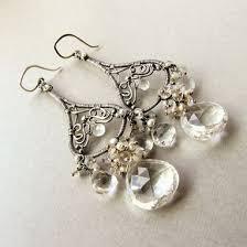 large chandelier earrings sterling silver wedding