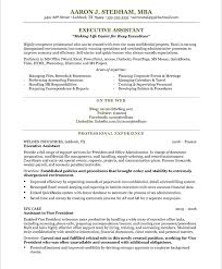 executive assistant resume by AARON J.STEDHAM ,MBA