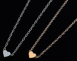cute small heart pendant chain necklace
