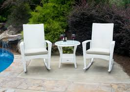 outdoor furniture white. Bayview Rocking Chair Set \u2013 Magnolia Outdoor Furniture White