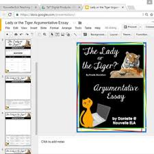 lady or the tiger essay digital resource by nouvelle ela tpt lady or the tiger essay digital resource