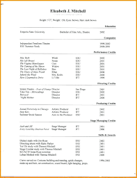 technical theatre resume templates technical theatre resume russiandreams info