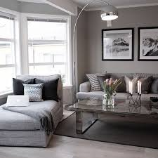 modern living room with a touch of grey