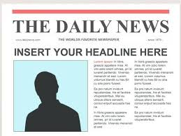 Newspaper Template Sparklebox Free Newspaper Template For Editable Newspapers Outline