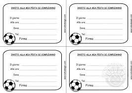 Biglietti Invito Compleanno Calcio Da Stampare Lacurt