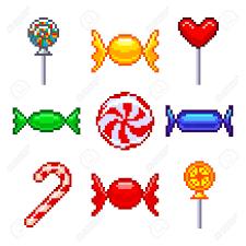 Relax and release your inner artist with pixel art by easybrain! Bonbons De Pixel Pour Les Icones De Jeux Haut Jeu Vectoriel Detaille Clip Art Libres De Droits Vecteurs Et Illustration Image 48094906