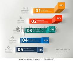 Modern Chart Design Modern Business Steps To Success Charts And Graphs Options