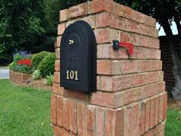 mailbox designs. Image Of: Build Brick Mailbox Plans Designs