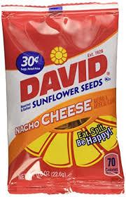 David Sunflower Seeds 36-Bags Nacho Cheese,0.8oz - Walmart.com - Walmart.com