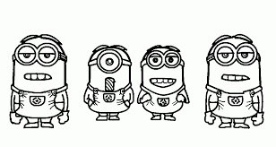 Small Picture Print Simple Minions Despicable Me Coloring Pages or Download