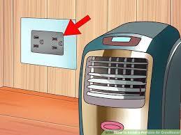 portable air conditioner sliding door vent kit image titled install a portable air conditioner step 2