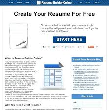 Free Resume Generator Free Resume Maker Online Beautiful Free Resume