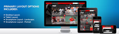 Baseball Websites Templates Website Template 52497 Mlb Baseball Club Custom Website Template