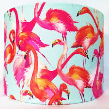 Flamingos Lampshade Flamingo Lamp Shade Tropical Bird Light Etsy